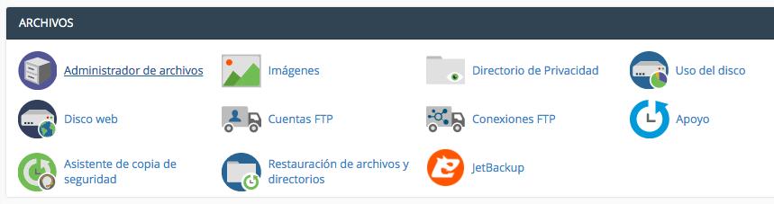 administrador de archivos