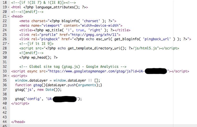 poner codigo de google analytics