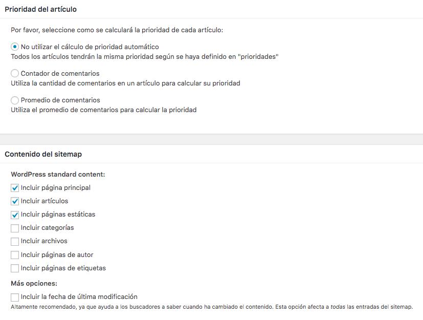 Configurar XML Sitemap 2