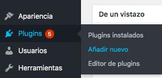 instalar nuevo plugin
