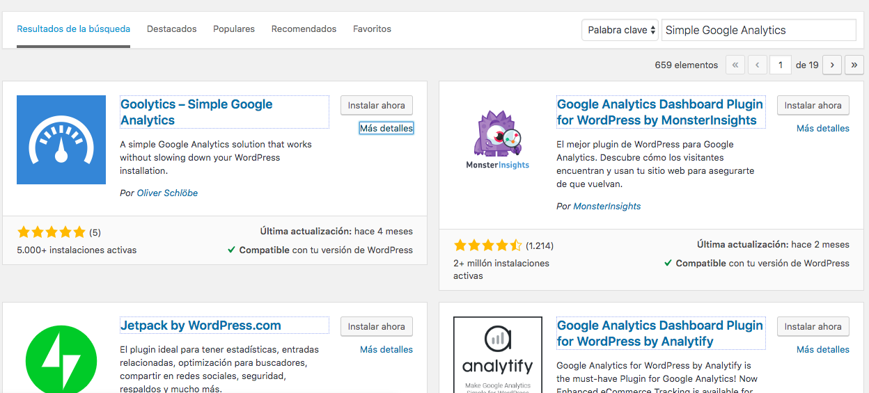 añadir plugin simple google analytics