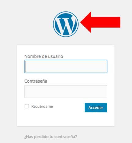 login en wordpress